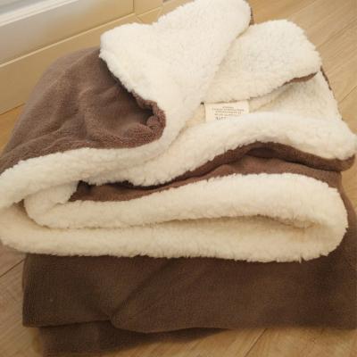 空調午休毯小毛毯沙發蓋毯羊羔絨雙層加厚珊瑚絨辦公室午睡午休空調兒童毯子空調午休毯