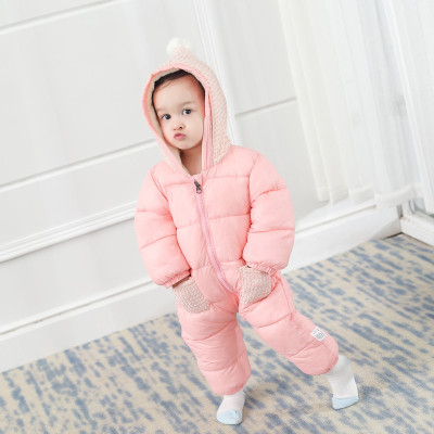 【精品特卖】秋冬婴幼儿抱被儿童爬服男女宝宝连身哈衣羽绒棉服连体衣 迈诗蒙