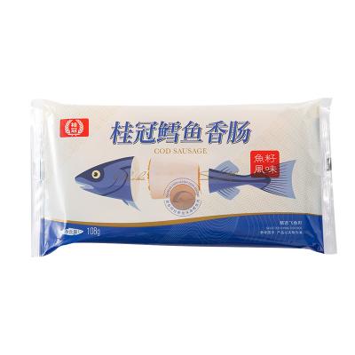 桂冠 鳕鱼 香肠 鱼籽风味 108g 烧烤食材 火锅丸料 阿拉斯加鳕鱼