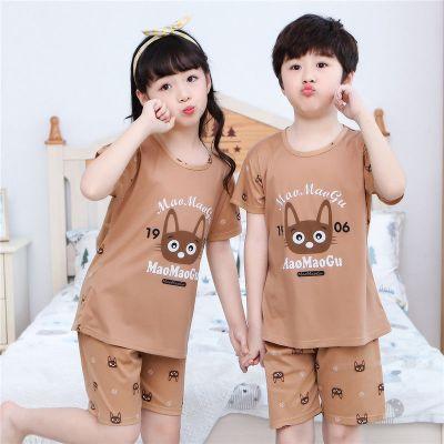 春夏季兒童睡衣短袖家居服中大童薄款空調服寶寶套裝 莎丞