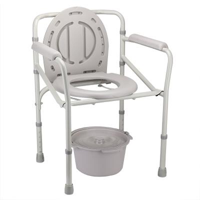 魚躍(YUWELL)坐便椅H023B 可折疊孕婦殘疾人不銹鋼老人老年人坐便洗澡器座便椅家用馬桶凳