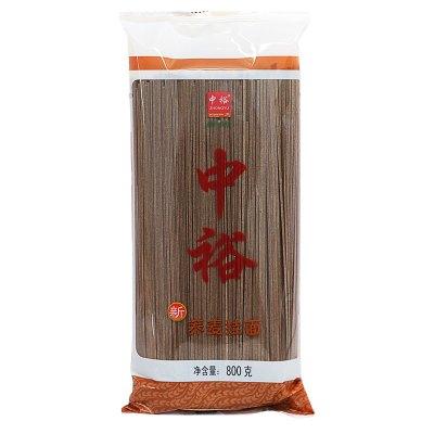 中裕(ZHONGYU)蕎麥掛面800g山東面食筋道爽滑健康方便速食湯面早餐面條涼面拌面炸醬中裕出品