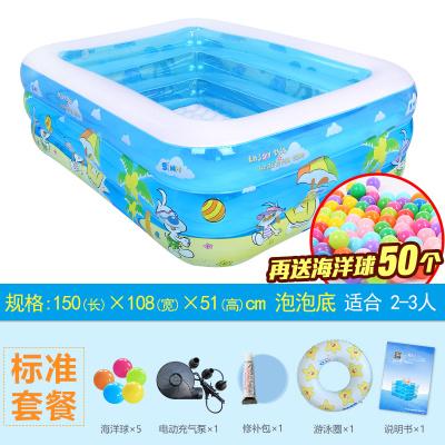 諾澳大型家庭充氣游泳池親子海洋球池嬰兒兒童寶寶戲水池三環標準套餐