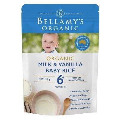 贝拉米(Bellamy's) 香草奶油米糊米粉 125g 6个月以上