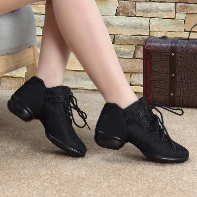 刺桐先生舞蹈鞋廣場舞鞋女士跳舞鞋女健身大碼舞蹈鞋女網面軟底絨面運動健美操鞋女
