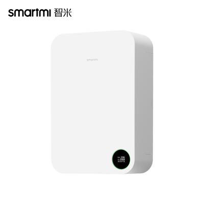 智米(SMARTMI)新風系統小米生態鏈家用壁掛式凈化空氣除霧霾甲醛pm2.5加氧靜音新風機凈化器XFXT01ZM