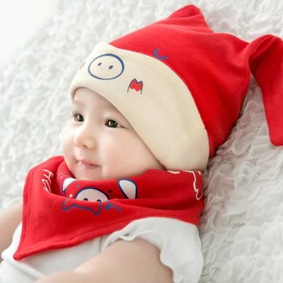 儿童帽宝宝帽子秋婴幼儿婴儿帽子0-3-6-12个月男女宝宝帽子春秋季婴幼儿秋冬胎帽秋天