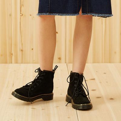 美特斯·邦威馬靴女季新款中幫皮質馬靴商場款甲