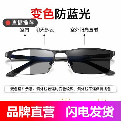 代利斯感光變色防電子輻射防藍光防近視平光眼鏡框男女款玩手機電腦電競保護眼睛護目鏡8812A