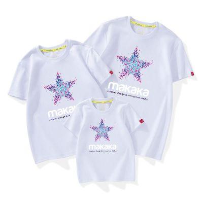 短袖T恤高品質棉純棉一家三口20年新款潮春夏裝親子裝家庭裝威珺