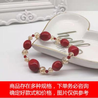 红色贝珠水晶手链LB3108