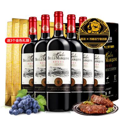 法国原瓶进口红酒 梦诺侯爵夫人干红葡萄酒750ml*6【梦诺&苏格拉宁联名款】