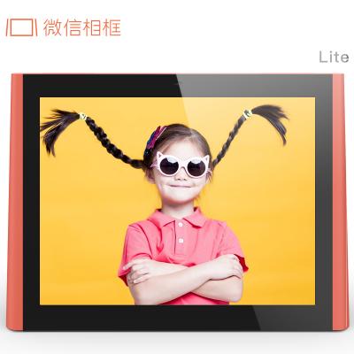 微信相框 Lite 8英寸 腾讯官方出品电子相册 微信语音通话16G存储 红色