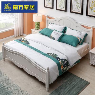 南方家私家居韓式田園床 1.5米歐式床公主床雙人床1.8米簡約大床