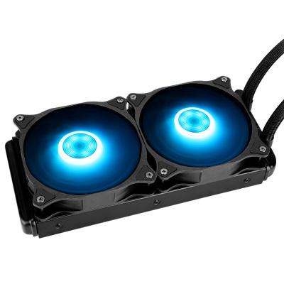 先馬(SAMA)冰川240RGB 一體式水冷CPU散熱器 溫控/RGB光控/雙平臺//帶遙控器/支持AM4 散熱器