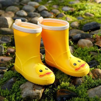 儿童雨鞋小黄鸭宝宝防滑水鞋胶鞋套