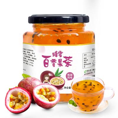 【買2送杯勺】序木堂蜂蜜百香果茶500g罐裝沖水喝的飲品沖飲沖泡水果茶醬