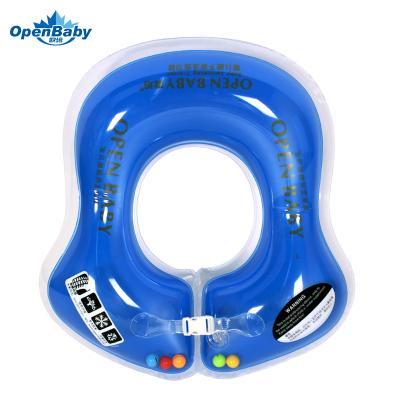 歐培(OPEN BABY)嬰兒游泳圈 兒童游泳救生圈 幼兒腋下圈 藍色S碼
