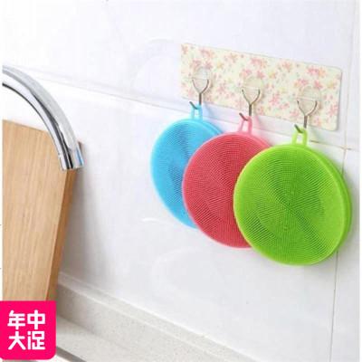 MLHJ 硅膠洗碗刷洗鍋刷廚房清潔刷硅膠洗碗百潔布鍋刷加大加厚款清潔刷