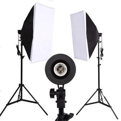 LED小型摄影棚摄影灯套装补光灯拍摄拍照灯常亮柔光灯箱简易道具