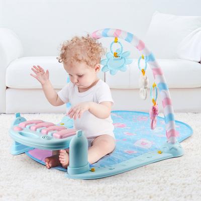 紐奇 嬰幼兒早教益智玩具音樂爬行腳踏鋼琴健身架 嬰兒帶音樂健身架嬰兒爬墊