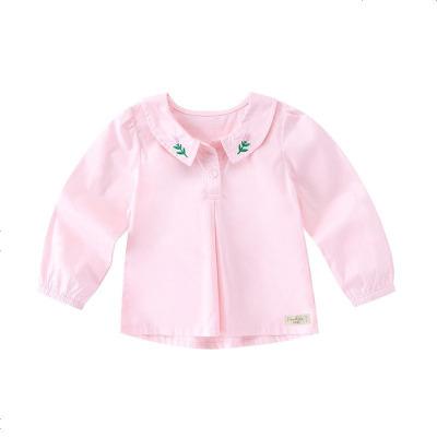 鉛筆俱樂部童裝2020秋裝新款女童襯衫小童長袖襯衫兒童休閑上衣