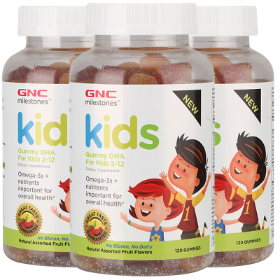 【3瓶裝】美國進口GNC/健安喜DHA兒童軟糖120粒 美味可口