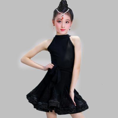 【蘇寧好貨】拉丁舞服新款兒童拉丁舞裙夏女孩練功舞蹈服裝標準專業考級少兒演出比賽服