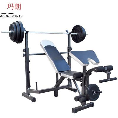 因樂思(YINLESI)杠鈴套裝多功能舉重床臥推架深蹲架杠鈴床男士 健身器材 家用鍛煉