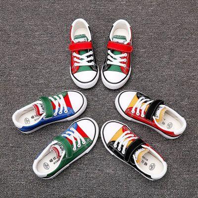 女童鞋秋冬新款韓版小女孩鞋男童鞋子冬季潮流兒童低幫帆布鞋 衫伊格(shanyige)