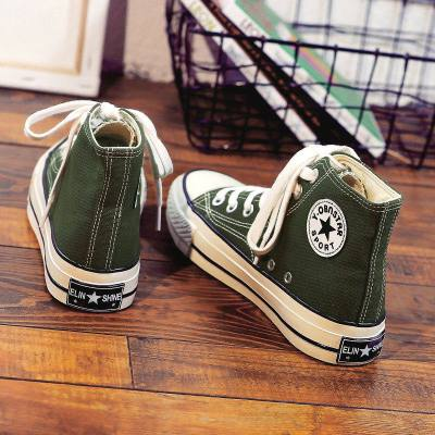 SUNTEK2020新款鞋子ins高幫帆布鞋女學生韓版小白百搭板鞋春季學院風潮