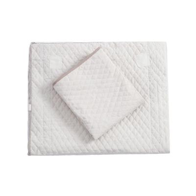 瓦德拉(valdera)嬰兒床床布套棉桃皮絨床圍 可拆洗 寶寶床四季通用防撞透氣 嬰童床品套裝