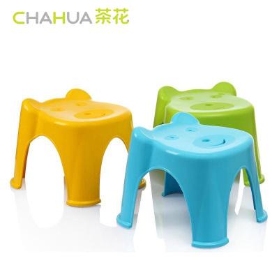 茶花(CHAHUA)卡通童凳塑料换鞋凳子宝宝儿童凳0849颜色随机28.6CM 绿色颜色随机