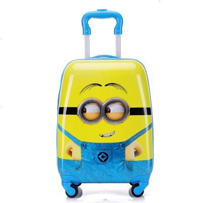 景榮兒童拉桿箱男女孩卡通旅行箱定制16寸18寸小學生寶寶行李箱萬向輪 小黃人18寸
