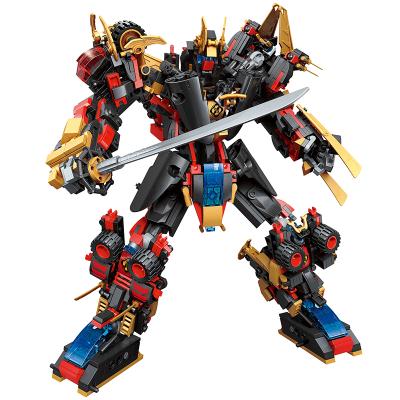 啟蒙兼容樂高3105星隕武神超集變系列合體變形6合1男孩益智拼裝拼插金剛機器人模型玩具積木 ABS材質 6歲以上