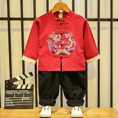 男童汉服秋1岁宝宝抓周服2中式3改良4唐装儿童中国风套装古装长袖