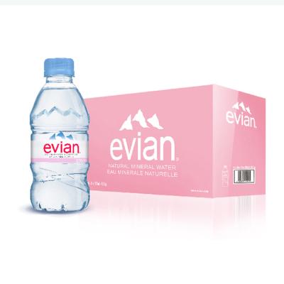 依云(Evian) 天然矿泉水 330ml*24瓶 小瓶装 法国进口