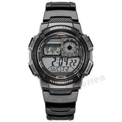 卡西欧CASIO数字男士手表运动腕表Regular普通系列多功能男表AE-1000W-1A防水学生电子表 男 30m