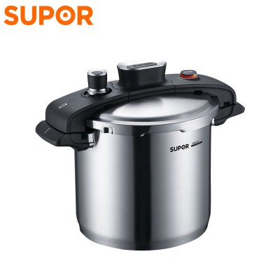 蘇泊爾(SUPOR)壓力鍋YW22M2巧易旋 304不銹鋼 壓力快鍋 7.6L明火電磁爐通用