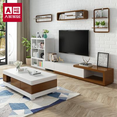 A家家具 茶幾 可收納茶幾電視柜組合 北歐茶幾電視柜組合套餐簡約現代客廳家具人造板 其他 DB1606-1