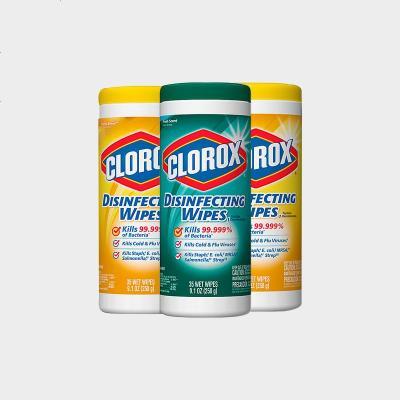 clorox高樂氏濕巾殺菌清潔除臭濕紙巾去油污濕巾3罐