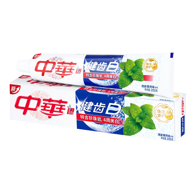 中华 (Zhong Hua) 健齿白牙膏 清新薄荷味200g【联合利华】