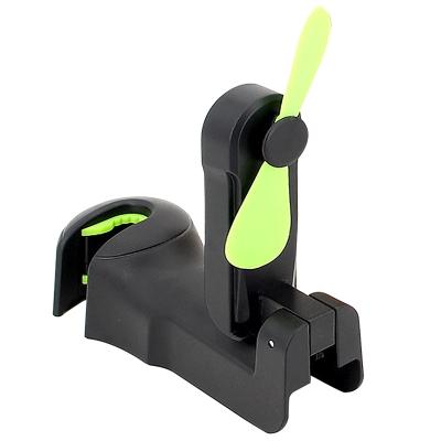 汽車后排風扇車載電風扇夏天降溫神器車內換氣扇降溫器電扇排風扇 黑色單個【充電款】