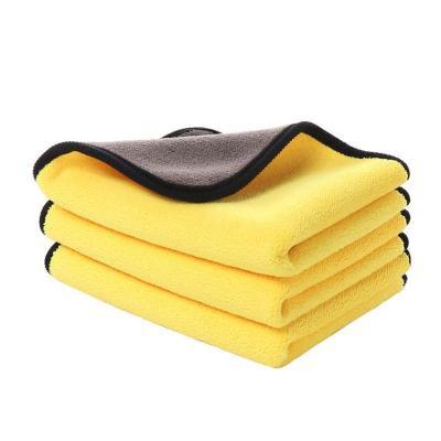 汽車用洗車毛巾擦車布超強吸水加厚抹布車載內飾清潔專用巾不掉毛(顏色隨機30*60尺寸毛巾 三條裝)