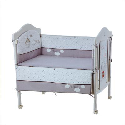 小龍哈彼(Happy dino) 小龍哈彼嬰兒床用品套件全棉可拆卸五件套床褥