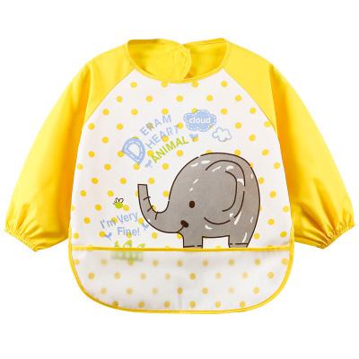 Curbblan卡伴儿童罩衣宝宝反穿衣防水防脏婴儿吃饭围兜其他长袖四季款口水巾12-18个月,1-3岁