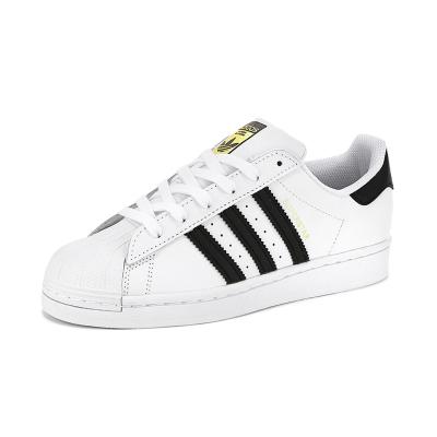 adidas阿迪達斯 Superstar三葉草經典款貝殼頭金標休閑鞋低幫板鞋運動鞋男女鞋情侶 FU7712/C77154