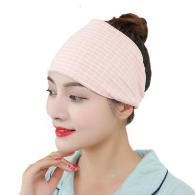 月子頭巾孕婦產后秋冬產后包頭帽純棉產婦頭巾帽子帶