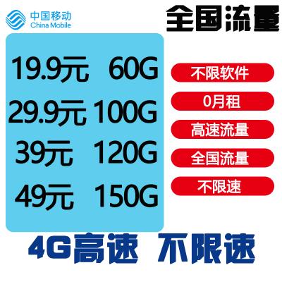 中國移動流量上網4g全國無限流量上網純流量卡全國0月租全國電信無線上網不限流量大王卡全國通用電話卡手機卡