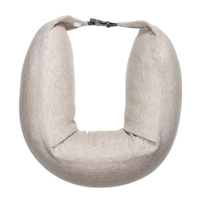 8H天然乳膠顆粒U型枕辦公休閑午睡枕汽車飛機頭枕多功能護頸枕U1